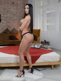 Raven Haired Denisa Takes It All