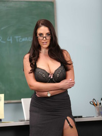 Busty Teacher Angela White Shows Her Huge Boobs