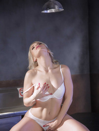 Stunning Blonde Babe Ashley Fires Strips In The Hospital