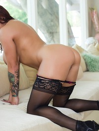 Lylith LaVey Strips On A Couch