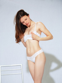 Ella G In White Lingerie