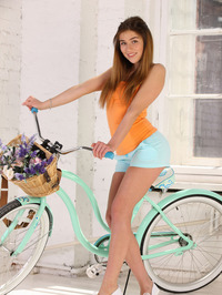 Foxy Salt Riding Bicycle Naked