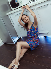 Slim Beauty Iva Poses Naked In The Kitchen