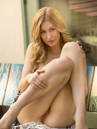 Statuesque Alexa Grace is relaxing outdoors