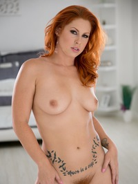 Curvy Redhead Babe Edyn Blair Strips Off Her Sexy Lingerie
