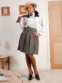 Sasha Cane college uniform