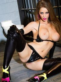 Emily Addison Sexy Rubber Lingerie