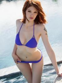Bree Daniels Purple Bikini