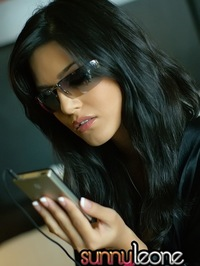 Sunny Leone with iPod