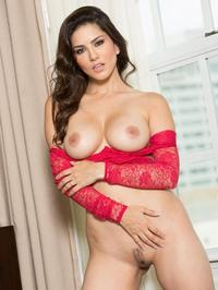Sunny Leone Sexy Red Lingerie