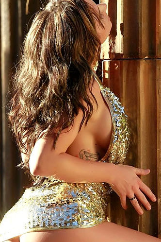 Destiny Dixon gold dress