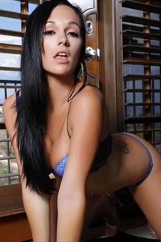 Destiny Dixon sexy blue lingerie