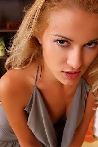 Cute Blonde Exposing Pussy