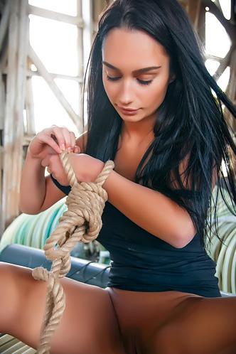 Sophia Tied Alone