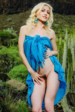 Janelle B Delightfully Poses In The Outdoors