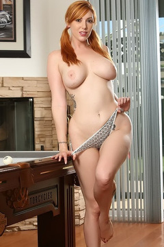 Lauren Phillips Strips By The Pool Table
