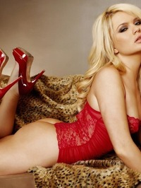 Alexis Ford Sexy Red Lingerie